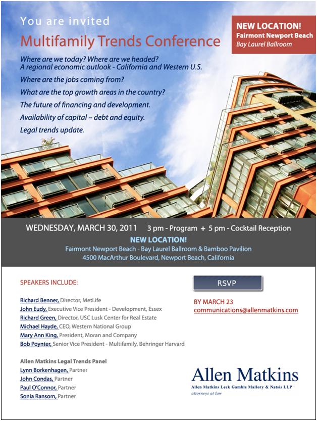 Allen Matkins Multifamily Trends Conference | Events | Allen